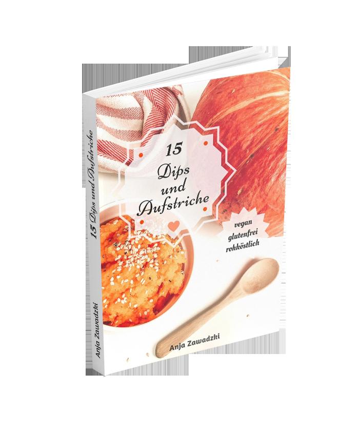 eBook mit vegane, rohkost und glutenfreie Rezepte.